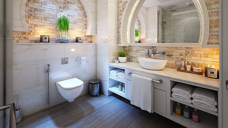 bathroom decoration example