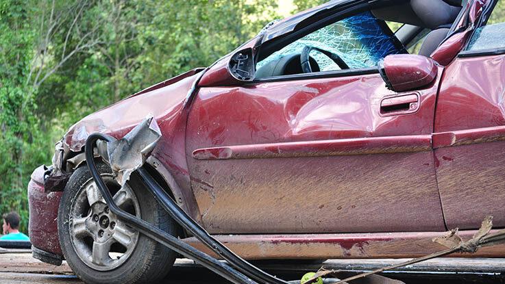 damaged car accident
