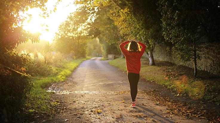 girl morning walk